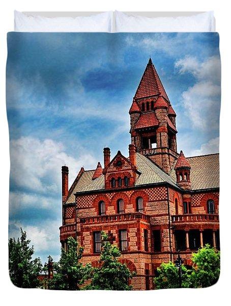 Sulphur Springs Courthouse Duvet Cover