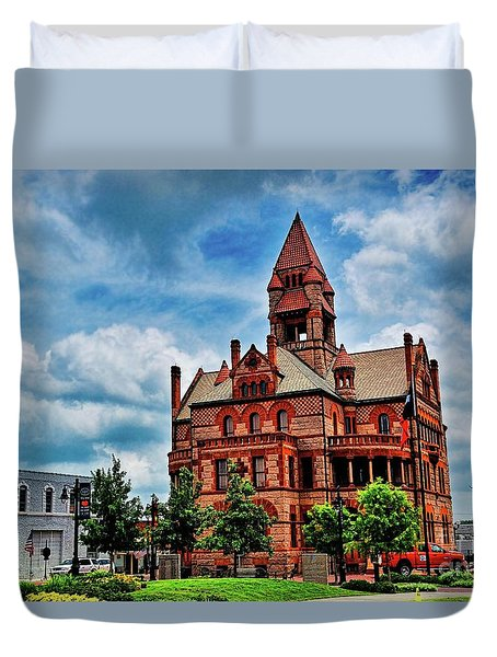 Sulphur Springs Courthouse Duvet Cover by Diana Mary Sharpton