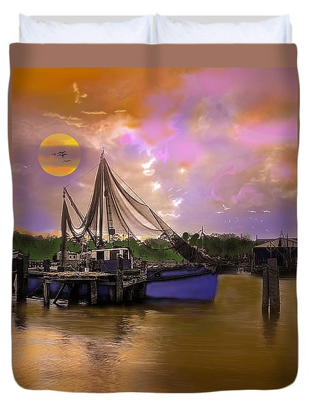 Sultry Bayou Duvet Cover