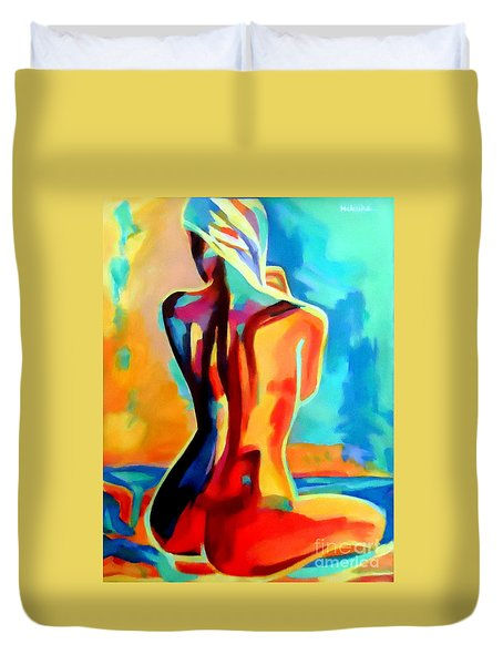 Sultry Lady Duvet Cover