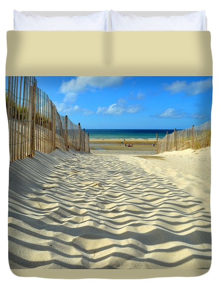 Sultry September Beach Duvet Cover