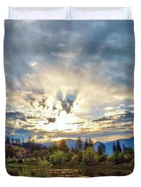 Sumer Solstice Sunrise Duvet Cover
