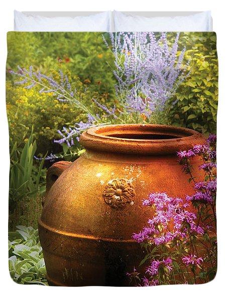 Summer - Landscape - The Urn Duvet Cover by Mike Savad