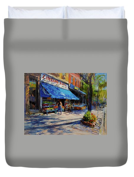 Summer Afternoon, Columbus Avenue Duvet Cover