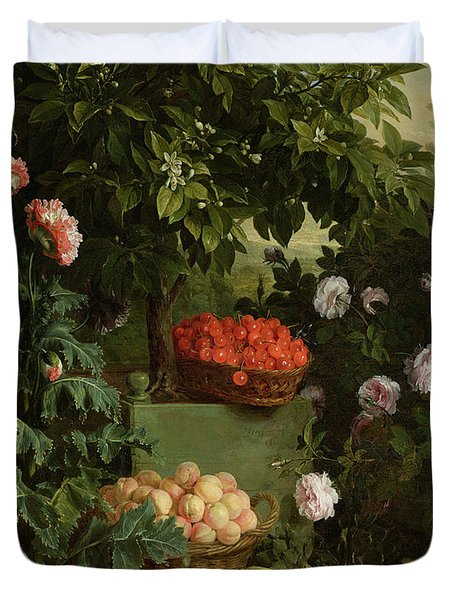Summer Duvet Cover by Alexandre-Francois Desportes