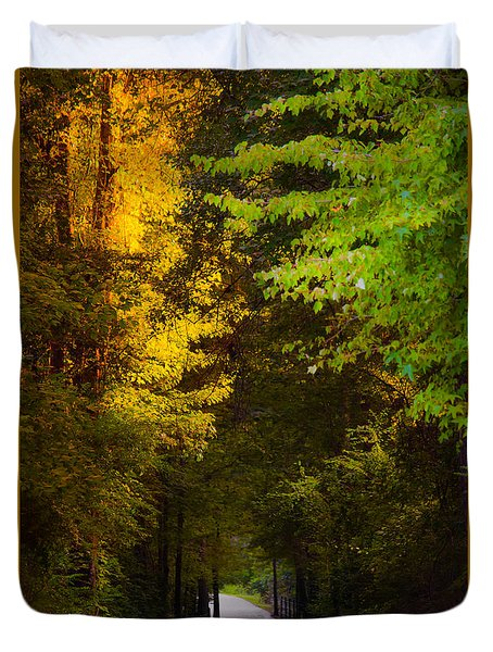 Summer And Fall Collide Duvet Cover