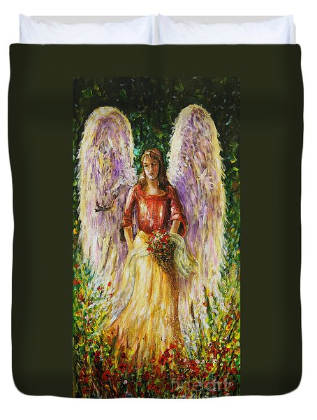 Summer Angel Duvet Cover