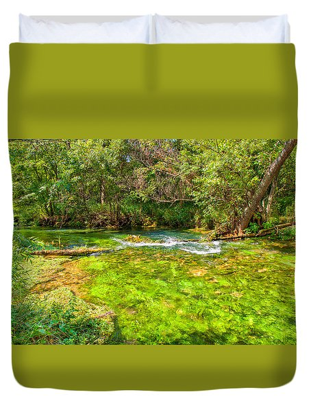 Duvet Cover featuring the photograph Summer At Alley Springs by John M Bailey