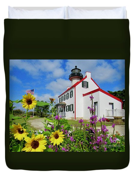 Summer At East Point Light Duvet Cover