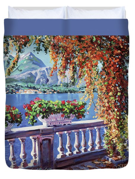 Summer At Lake Como Duvet Cover