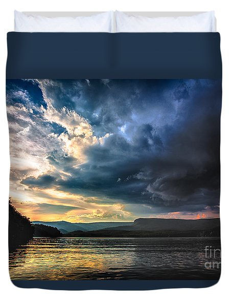 Summer At Lake James Duvet Cover