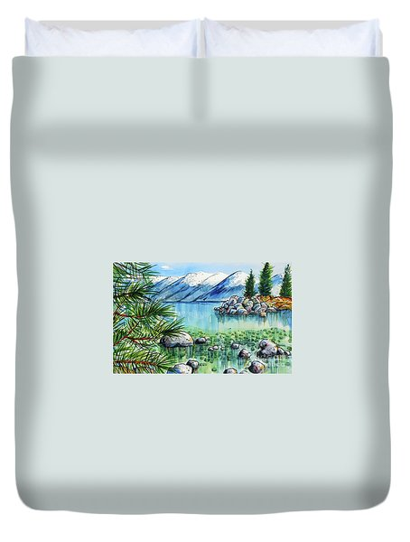 Summer At Lake Tahoe Duvet Cover by Terry Banderas