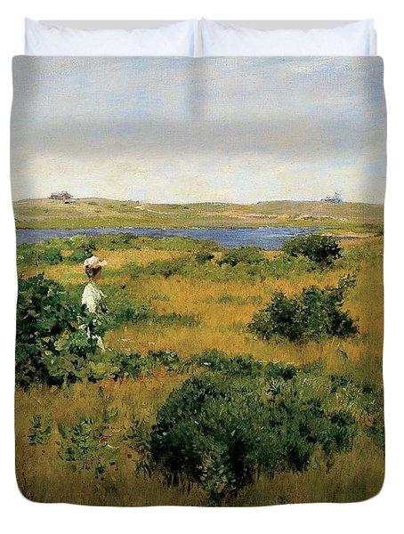 Summer At Shinnecock Hills Duvet Cover by William Merritt Chase