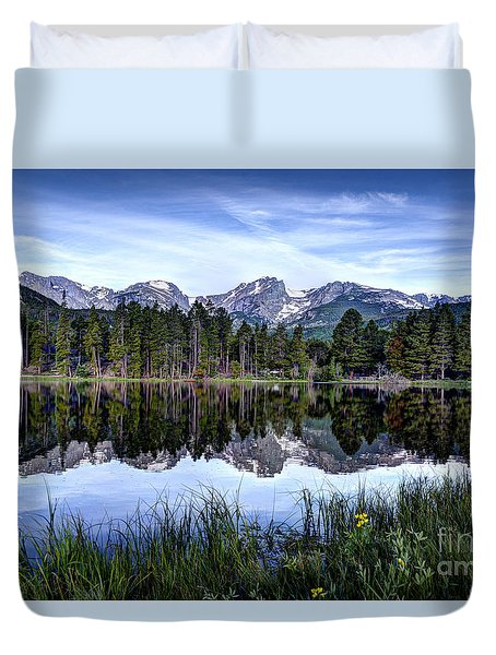 Summer At Sprague Lake  Duvet Cover by Jean Hutchison