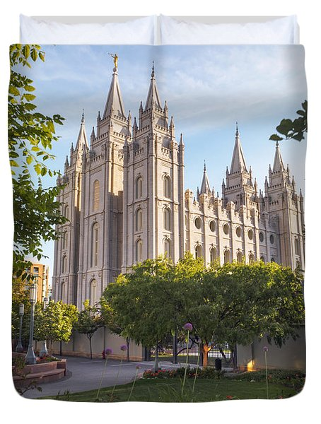 Summer At Temple Square Duvet Cover