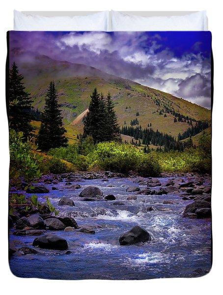 Duvet Cover featuring the photograph Summer At The Animas River by Ellen Heaverlo