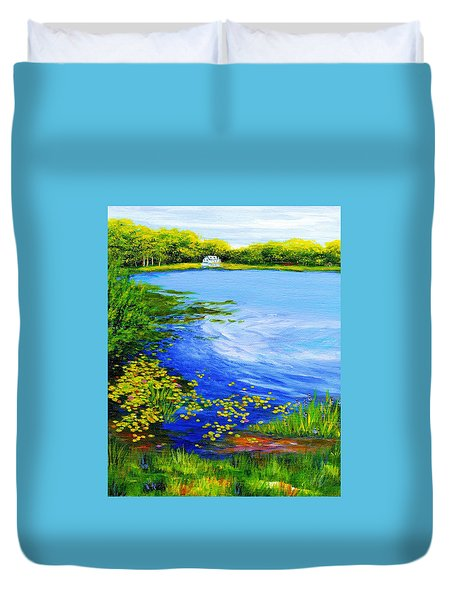 Summer At The Lake Duvet Cover