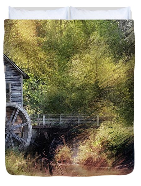 Summer At The Mill Duvet Cover
