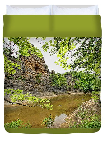 Duvet Cover featuring the photograph Summer At The Pinnacles by Cricket Hackmann