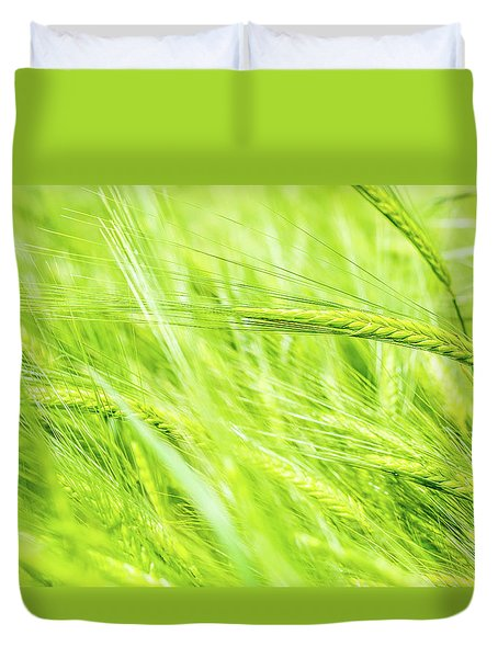Duvet Cover featuring the photograph Summer Barley. by Gary Gillette
