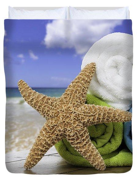 Summer Beach Towels Duvet Cover