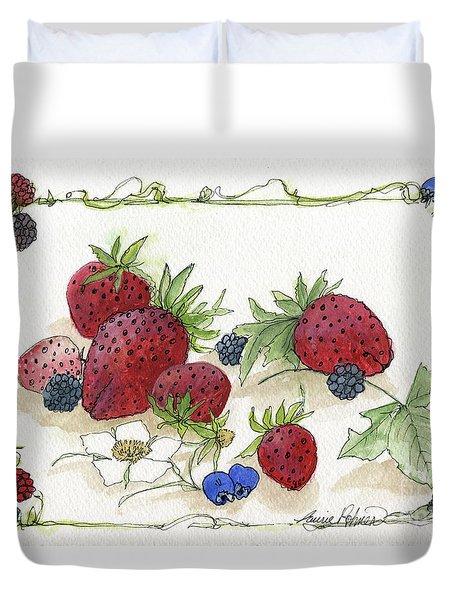 Summer Berries Duvet Cover