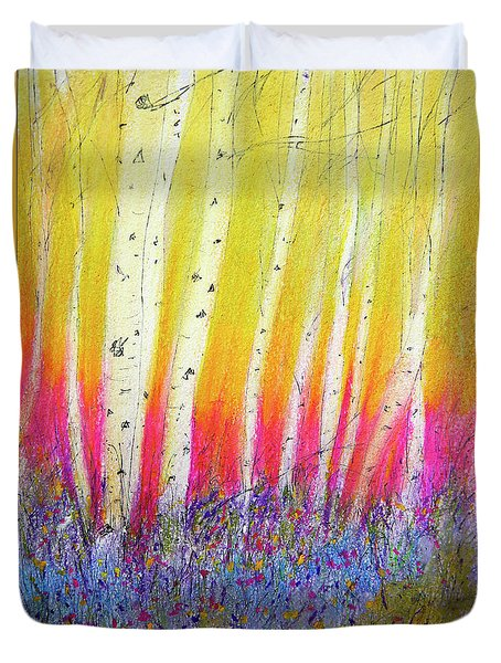 Summer Birch  Duvet Cover