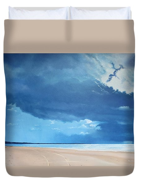 Summer Blues Duvet Cover by Paul Newcastle