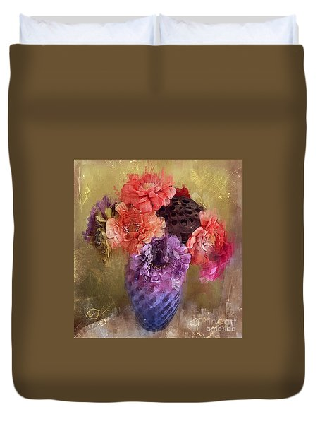 Summer Bouquet Duvet Cover by Alexis Rotella