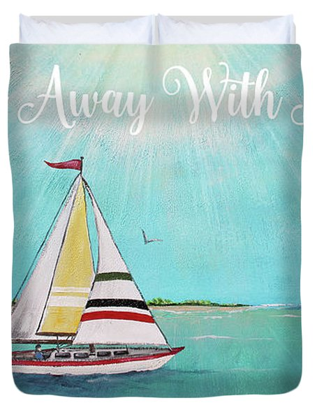 Duvet Cover featuring the painting Summer Breeze-c by Jean Plout