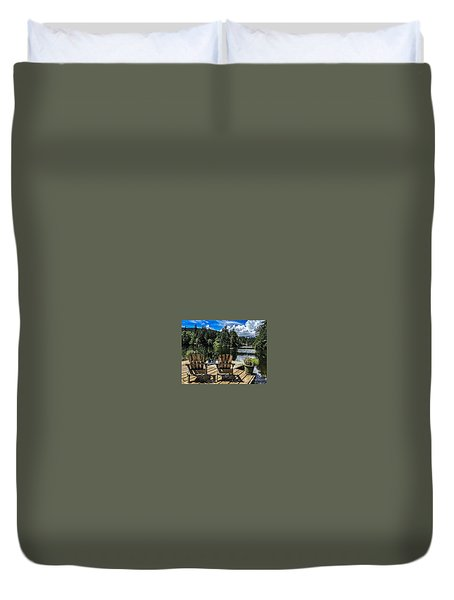Summer By Eagle Lake Duvet Cover