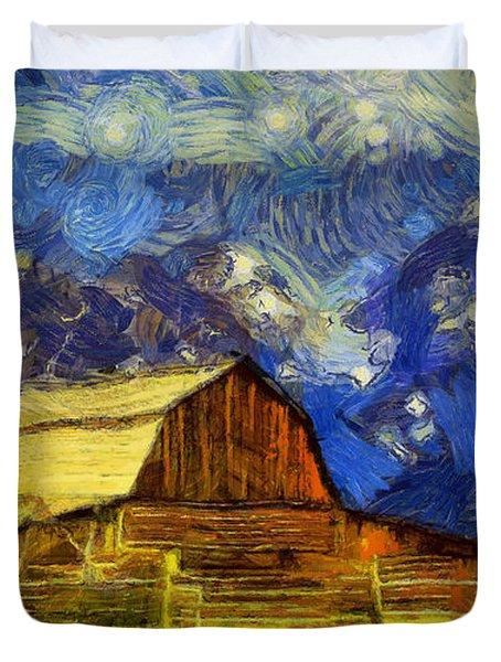 Summer Cabin In The Tetons Duvet Cover