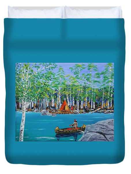 Summer Camp Duvet Cover by Mike Caitham