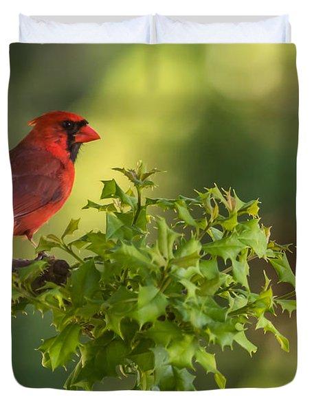 Summer Cardinal New Jersey Duvet Cover