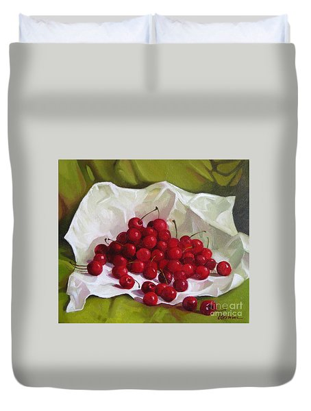 Summer Cherries Duvet Cover