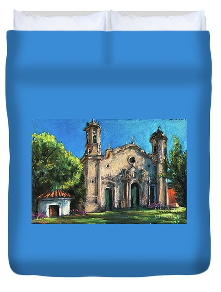 Summer Church Duvet Cover