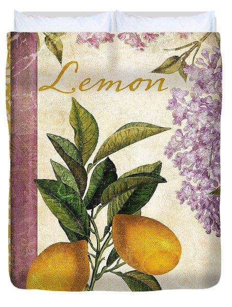 Summer Citrus Lemon Duvet Cover by Mindy Sommers