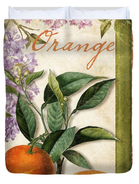 Summer Citrus Orange Duvet Cover by Mindy Sommers