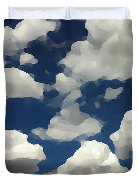Summer Clouds In A Blue Sky Duvet Cover