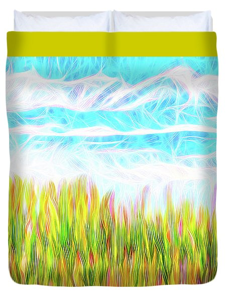 Summer Clouds Streaming Duvet Cover