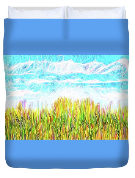 Summer Clouds Streaming Duvet Cover by Joel Bruce Wallach