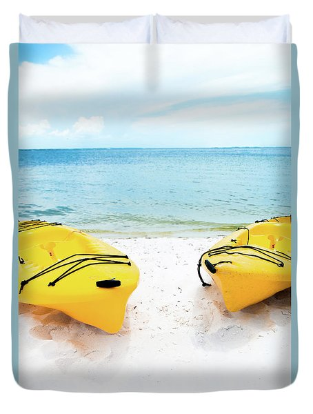 Duvet Cover featuring the photograph Summer Colors On The Beach by Shelby Young