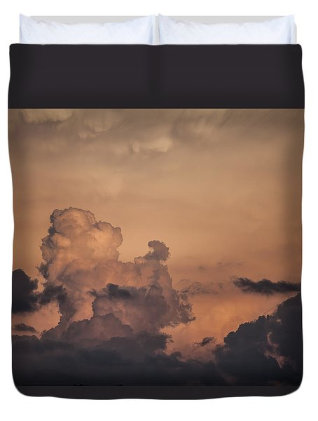 Summer Clouds Duvet Cover by Ray Congrove