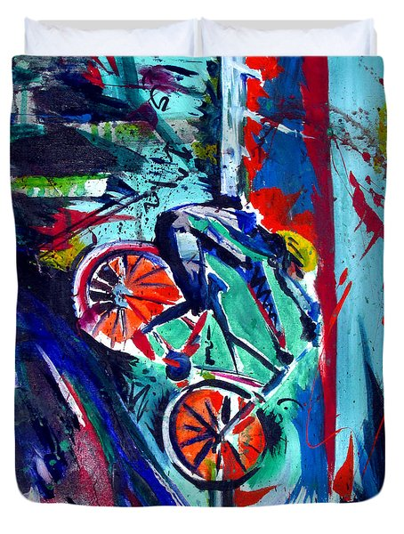 Summer Cycling Duvet Cover