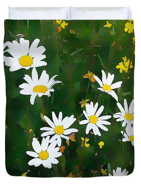 Summer Daisies Duvet Cover