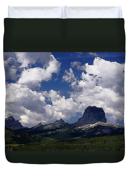 Summer Day At Chief Mountain Duvet Cover