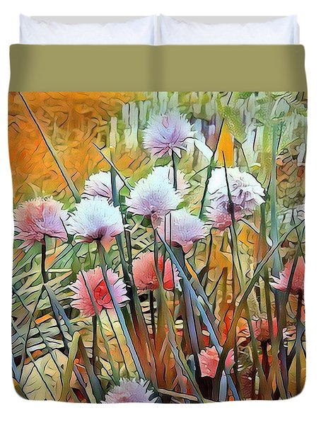 Summer Day Flowers Duvet Cover