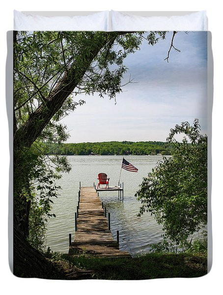 Summer Days On Lake Como Duvet Cover
