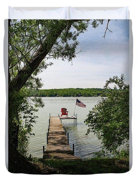 Summer Days On Lake Como Duvet Cover