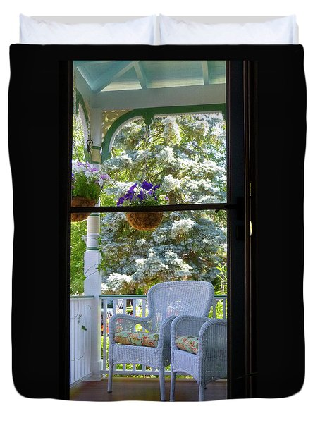 Summer Door Duvet Cover